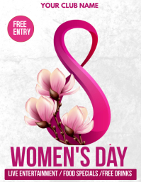 women's day flyers ใบปลิว (US Letter) template