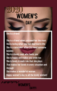 women's day gift card Kindle 封面 template