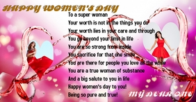 women's day gift card Reklama na Facebooka template