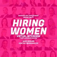 Women's Day Hiring 2021 Template Instagram-bericht