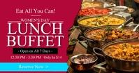 Women's Day Lunch Buffet 2021 Template Facebook Shared Image
