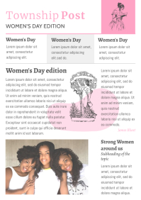 Women's Day Newspaper Layout