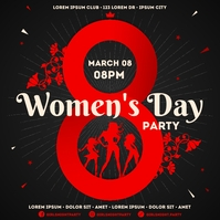 WOMEN'S DAY PARTY BANNER Iphosti le-Instagram template