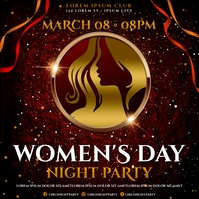 WOMEN'S DAY PARTY BANNER Publicación de Instagram template