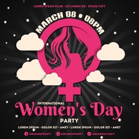 WOMEN'S DAY PARTY BANNER Wpis na Instagrama template