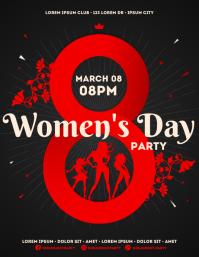 WOMEN'S DAY PARTY FLYER 传单(美国信函) template