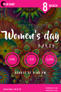 women's day PARTY flyers