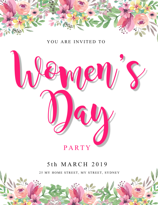 women's day party invitation