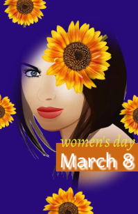 women's day/pink theme/birthday/template Tabloide