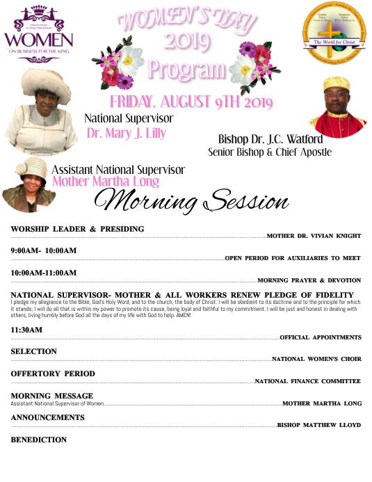 Women's Day Program