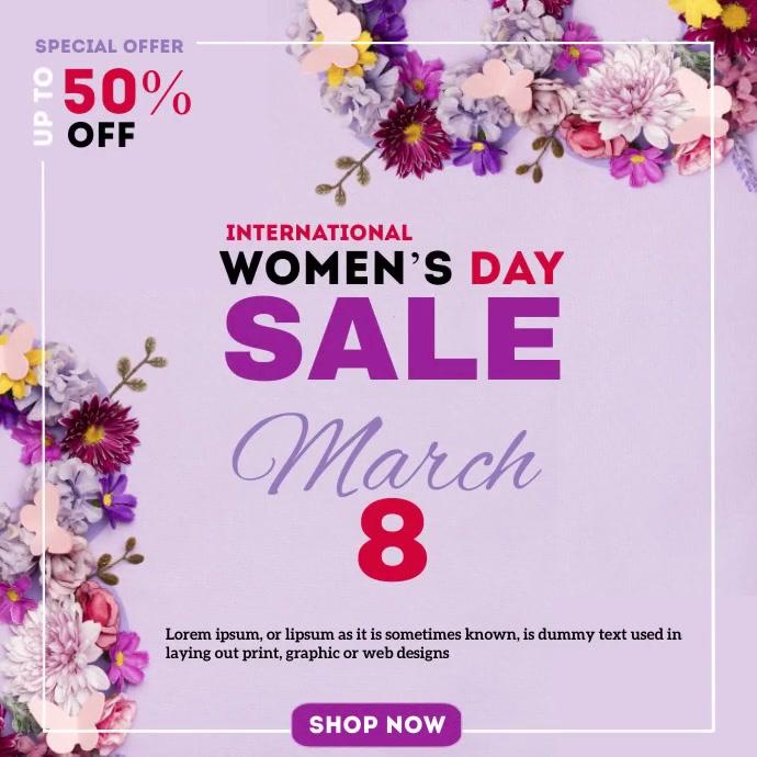 Women's Day Sale Kwadrat (1:1) template