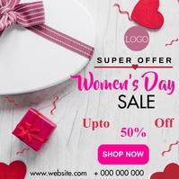 Women's day sale Instagram-opslag template