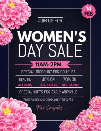 Women's day sale flyers, Pamflet (Letter AS) template