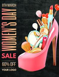 Women's day sale flyers