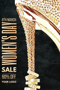 Women's day sale poster