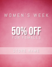 women's day sale template