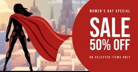 Women's day sale template delt Facebook-billede