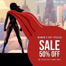 Women's day sale template Instagram Plasing
