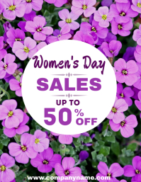 Women's day sales flyer Pamflet (Letter AS) template