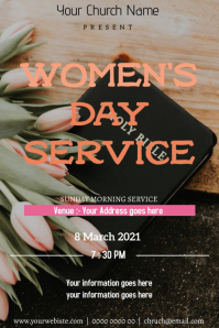 Women's day service Poster template
