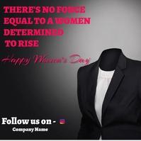 Women's day social media post Publicação no Instagram template