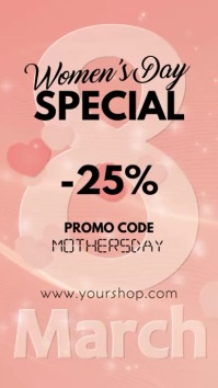 Women's Day Special Sales Promotion Story vid Instagram-verhaal template