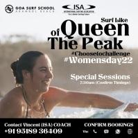 Women's Day Surfing 2021 Template Publicação no Instagram