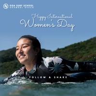 Women's Day Surfing Template Publicación de Instagram