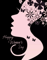 Women's Day Template Ulotka (US Letter)