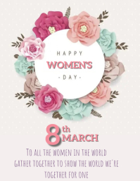 Women's Day Template Flyer (US Letter)