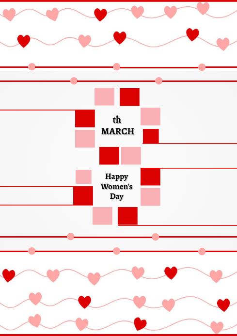 Women's Day Template Design A4