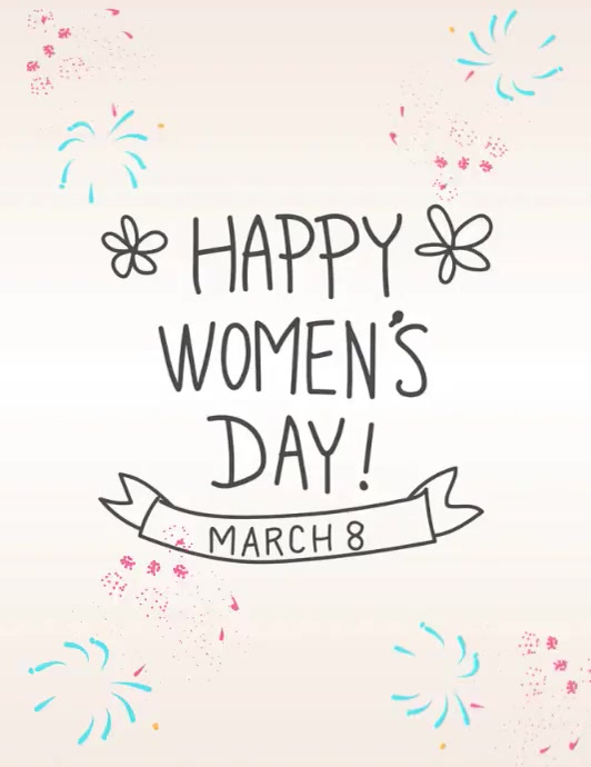 Women's Day Template Folheto (US Letter)