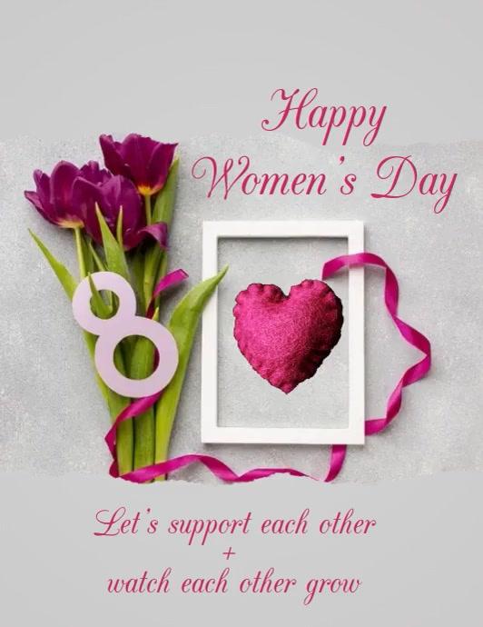 WOMEN'S DAY TEMPLATE FLYER Folheto (US Letter)