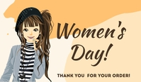 Women's Day Thank You For Your Order Template Cartellino