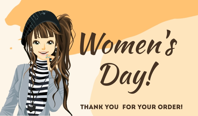 Women's Day Thank You For Your Order Template Tanda