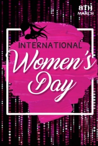 Women's Day Video, International Women's Day Poster template