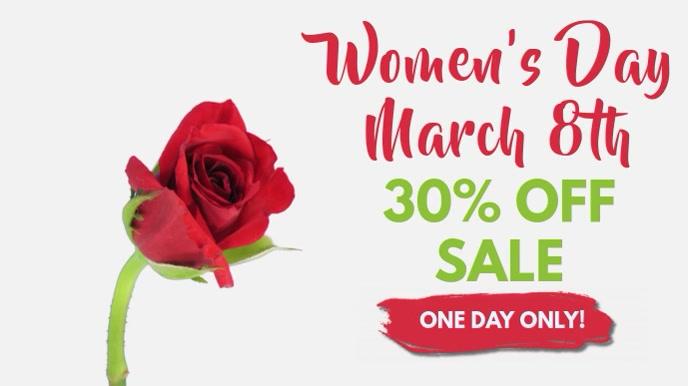 Women's Day Video Ad Template Pantalla Digital (16:9)