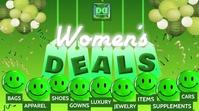 WOMEN'S DEALS YouTube Thumbnail template