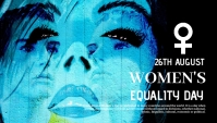 Women's equality day,event,women's day Blog Header template