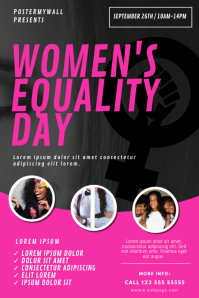 women's equality day Flyer Design Template