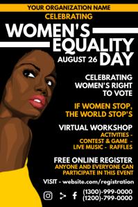 Women's Equality Virtual Event Template Плакат