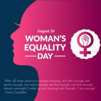 Women's equity day poster template