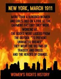 Women's Factory Fire History Flyer (US Letter) template