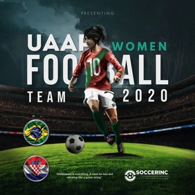Women's Football League Game Ad Instagram Post template