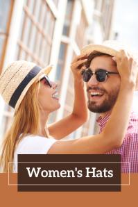 Women's Hats Pinterest Pinterest-grafik template