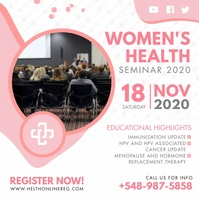 Women's Health Event Seminar Advert