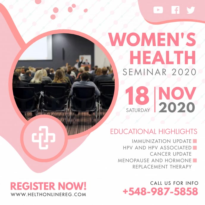 Women's Health Event Seminar Advert Persegi (1:1) template