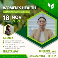 Women's health Issues Seminar Advert Cuadrado (1:1) template