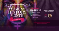 Women's History Month Facebook Shared Image delt Facebook-billede template