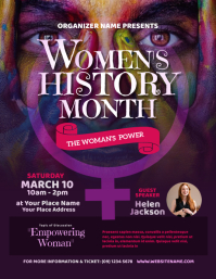 Women's History Month Flyer template